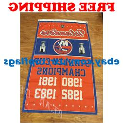 New York Islanders Stanley Cup Champions Flag Banner 3x5 ft