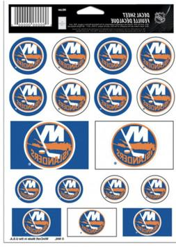 NEW YORK ISLANDERS STICKER SHEET 17 STICKERS LAPTOP BACKPACK
