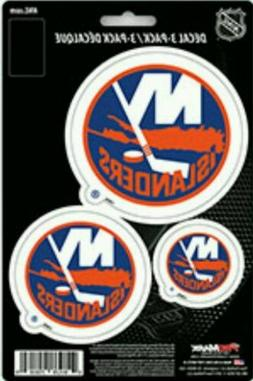 New York Islanders Team ProMark Die-Cut Decal Stickers 3Pack