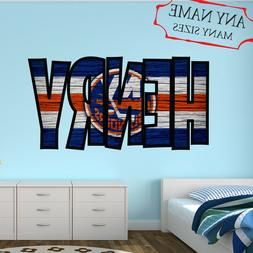 New York Islanders Wall Decal Art Custom Name Sticker Hockey