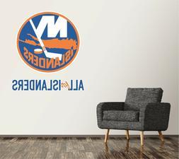 New York Islanders Wall Decal Logo Hockey NHL Art Decor Mura