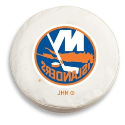 New York Islanders HBS White Vinyl Fitted Spare Car Tire Cov