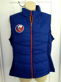 New York Islanders Women Jacket Size Medium Puffer Vest Stre