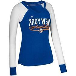 adidas New York Islanders Women's Royal/White Elbow Patch Lo