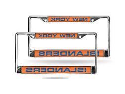 New York NY Islanders NHL Chrome Metal  Laser Cut License Pl