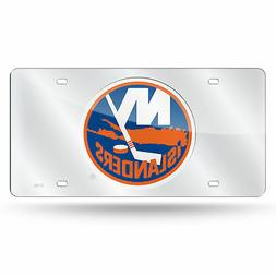 New York NY Islanders NHL Mirrored Laser Cut License Plate L