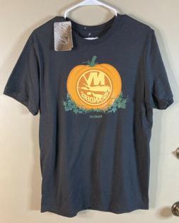 New York Ny Islanders Reebok NHL Pumpkin T-Shirt Size Medium