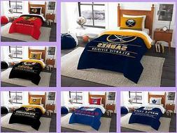 NHL Licensed 2 Piece Twin Comforter & Sham Bed Set In A Bag