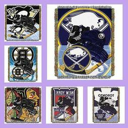 NHL Licensed Home Ice Advantage Tapestry Afghan Throw Blanke