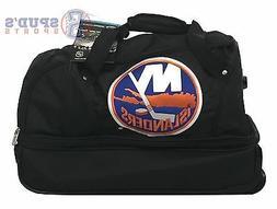 NHL New York Islanders 22-Inch Drop Bottom Rolling Luggage B