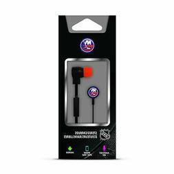 Mizco NHL New York Islanders Big Logo Black Cord Earbuds