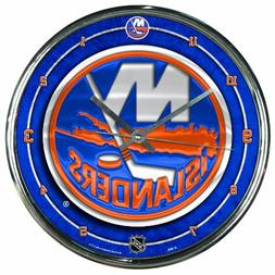 NHL New York Islanders Chrome Clock