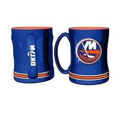 NHL New York Islanders Coffee Mug 14oz Sculpted Relief Boelt