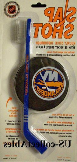 NHL New York Islanders Hockey Stick Toothbrush Puck Souvenir