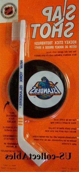 NHL New York ISLANDERS Hockey Stick Toothbrush w/Puck Sports