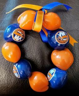 NHL New York Islanders Kukui Nut Bracelet -Good Luck-  New