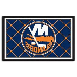 FANMATS NHL New York Islanders Nylon Face 4X6 Plush Rug