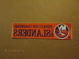 NHL New York Islanders Vintage Circa 1980's STANLEY CUP CHAM