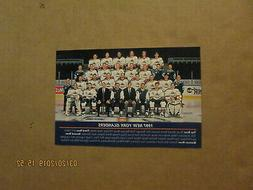 NHL New York Islanders Vintage Circa 1997 Team Photo Hockey