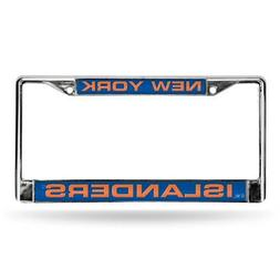 NHL New York Islanders Laser Cut Chrome Plate Frame