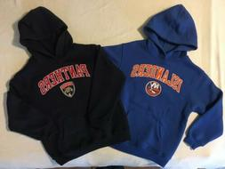 NWT NHL Florida Panthers, New York Islanders Youth Hoodie Sw