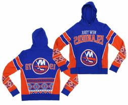 NHL NY Islanders Boys Holiday Ugly Knit Sweater Hoodie Size