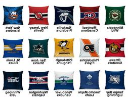 Pro Ice Hockey League Team Variety Logo Cotton Linen Cushion
